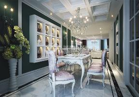 新古典 三居 西安装修 浐灞半岛 白领 餐厅图片来自西安城市人家装饰王凯在新古典主义优雅三居的分享