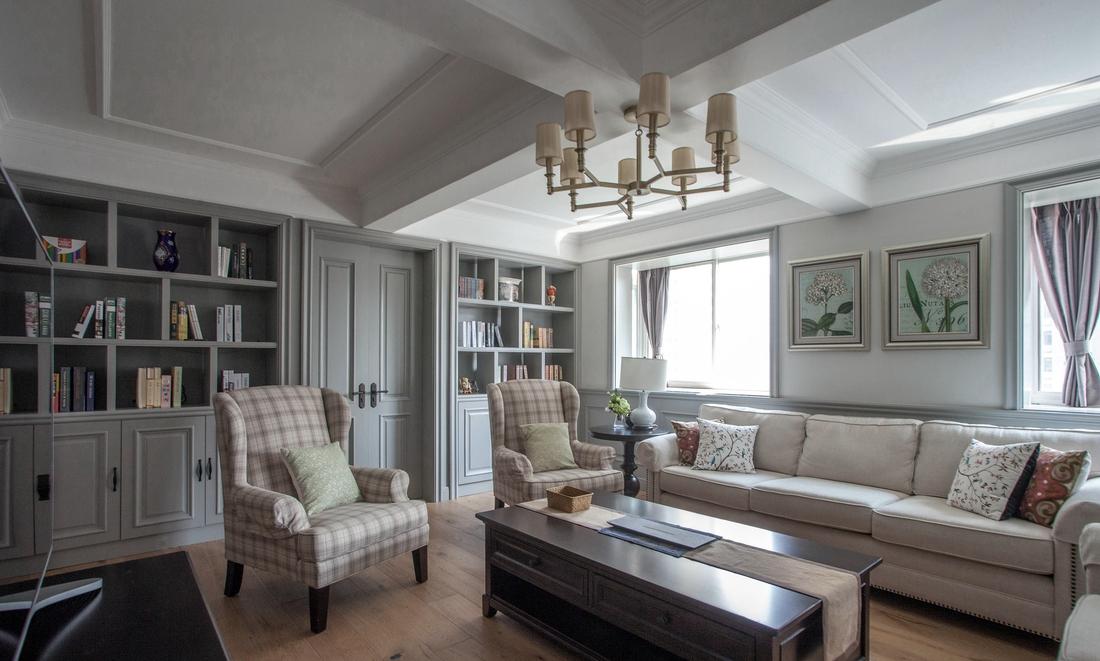 美式 温馨 冷色调 80后 设计 装修案例 实景图 西安 客厅图片来自翼森设计在冬日温馨·美式冷色调的分享