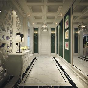 新古典 三居 西安装修 浐灞半岛 白领 玄关图片来自西安城市人家装饰王凯在新古典主义优雅三居的分享