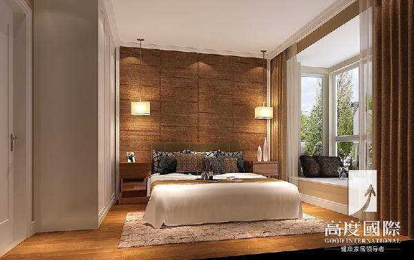成都高度国际别墅装饰公司为您量身设计——卧室