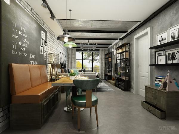 餐厅布置的非常简单,背景只用一快黑色木板来承托氛围。