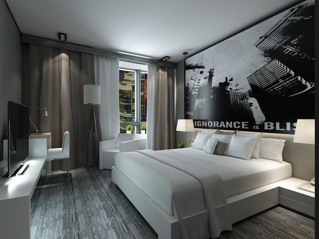 简约 二居 收纳 小资 卧室图片来自阳光放扉er在奥莱城小高层标准层的分享