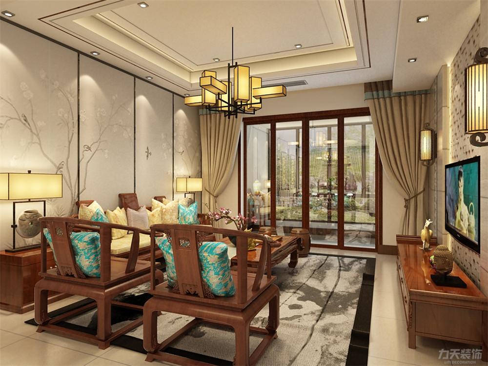 中式 三居 收纳 小资 客厅图片来自阳光放扉er在奥莱城小高层的分享