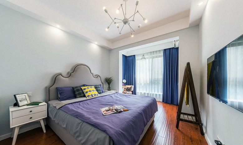 卧室图片来自家装大管家在唯美纯净 88平北欧风情时尚空间的分享