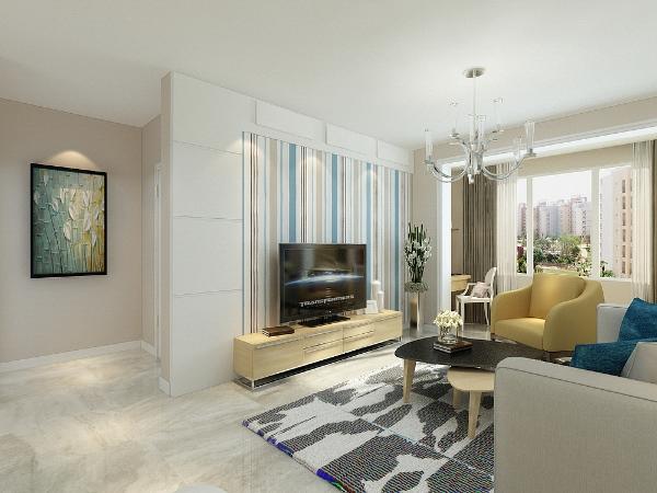 本案为金隅悦城两室两厅一厨一卫82平米户型,本案风格定义为现代简约,