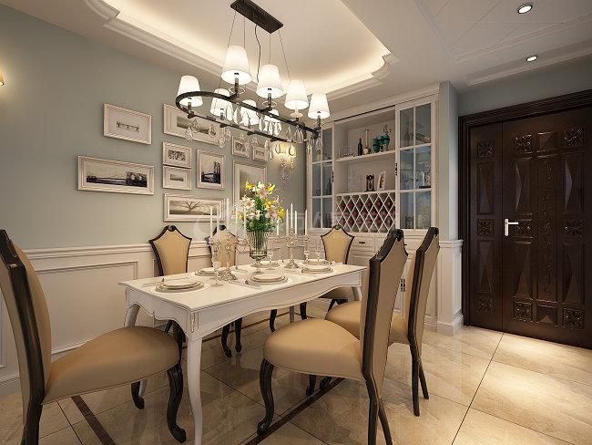 美式 三居 西安装修 80后 国金华府 餐厅图片来自西安城市人家装饰王凯在温馨甜蜜的美式空间的分享