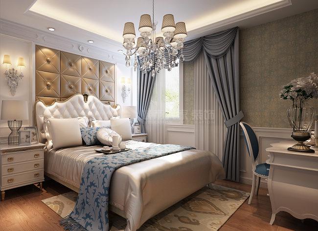美式 三居 西安装修 80后 国金华府 卧室图片来自西安城市人家装饰王凯在温馨甜蜜的美式空间的分享