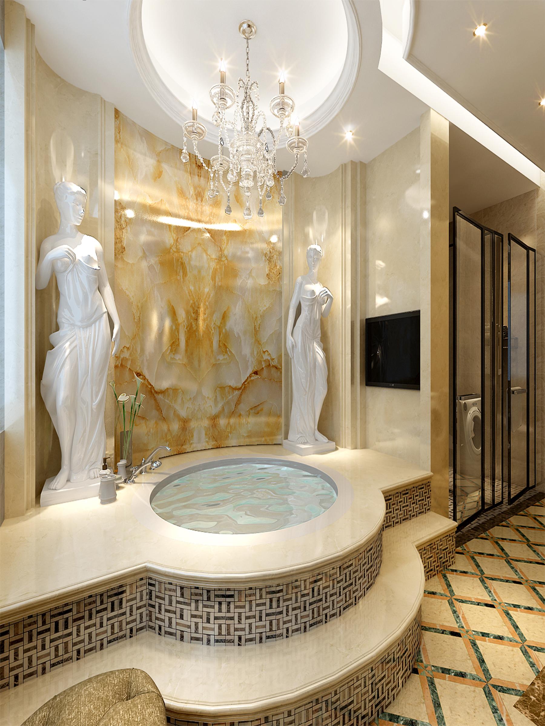 卫生间图片来自业之峰装饰旗舰店在欧式小洋房的分享