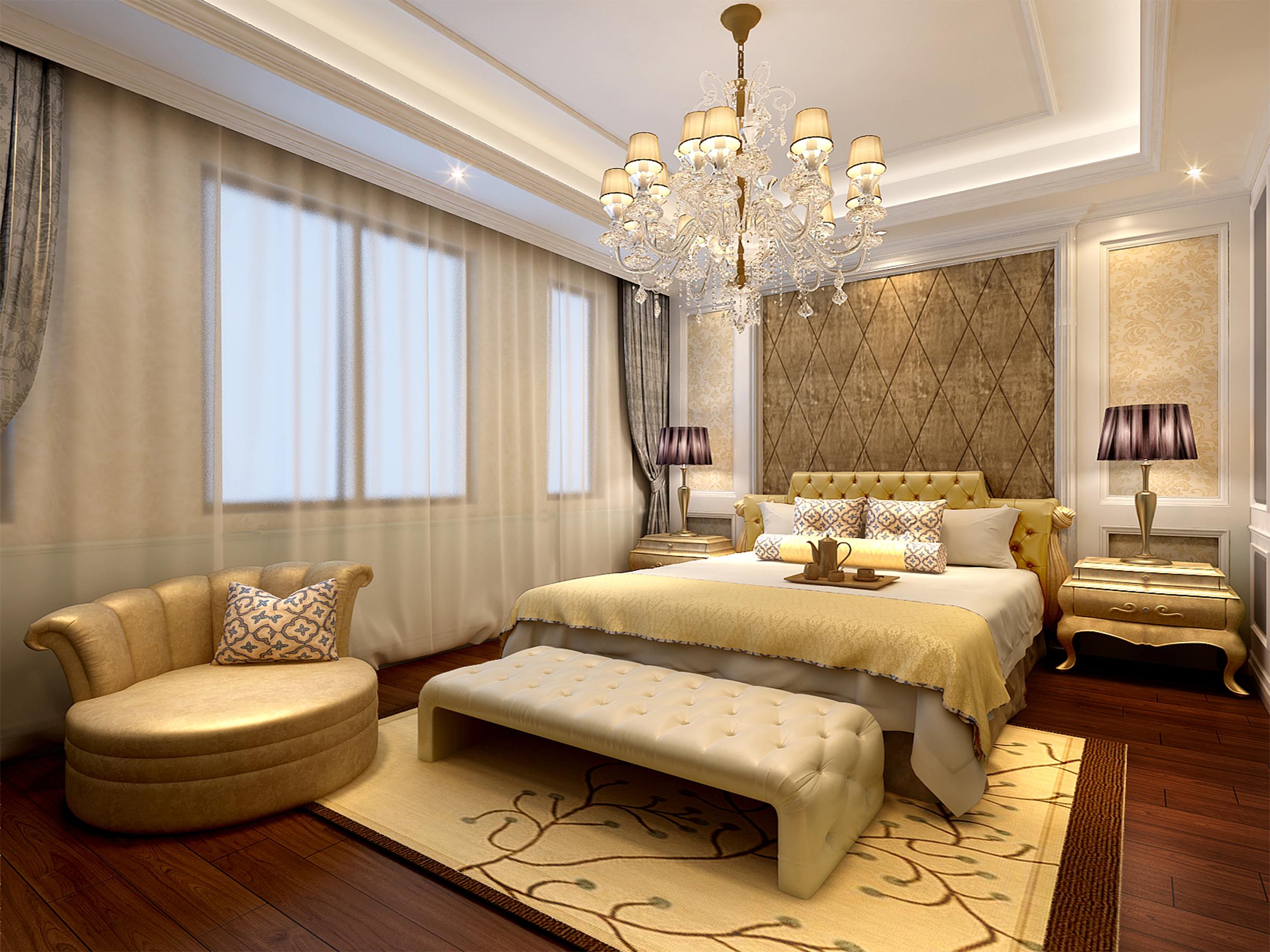 卧室图片来自业之峰装饰旗舰店在欧式小洋房的分享
