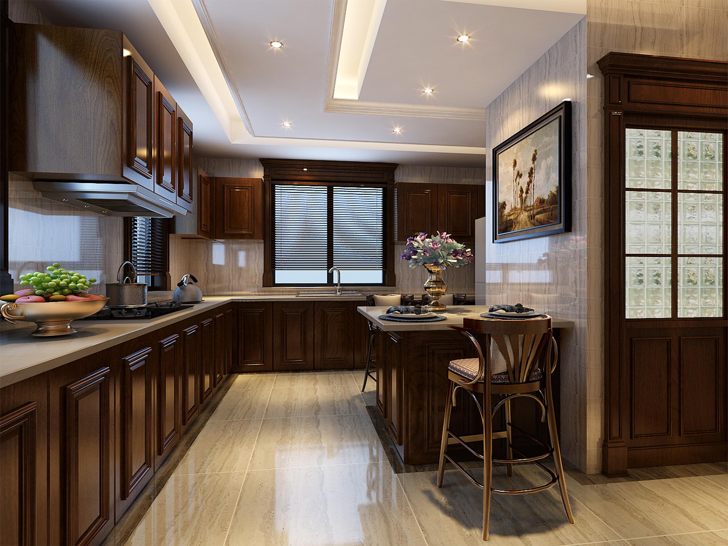 厨房图片来自业之峰装饰旗舰店在欧式小洋房的分享