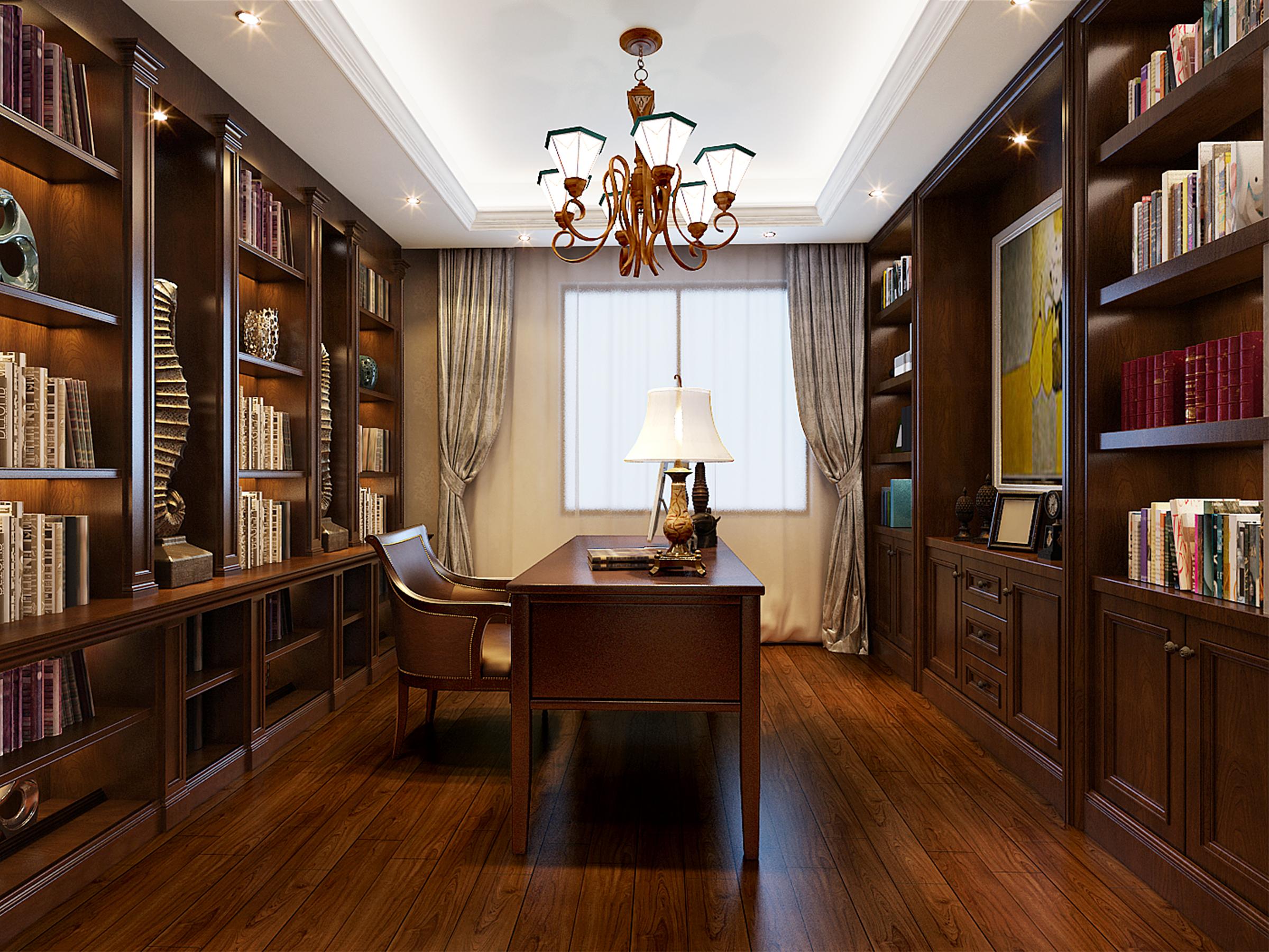 书房图片来自业之峰装饰旗舰店在欧式小洋房的分享