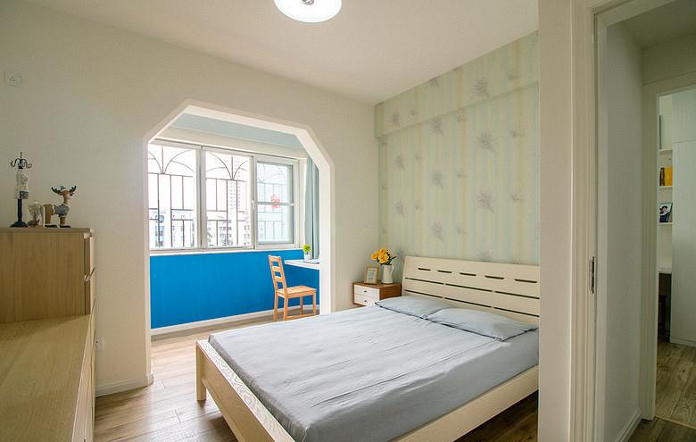 卧室图片来自家装大管家在暖色系温馨 102平现代简约3居室的分享