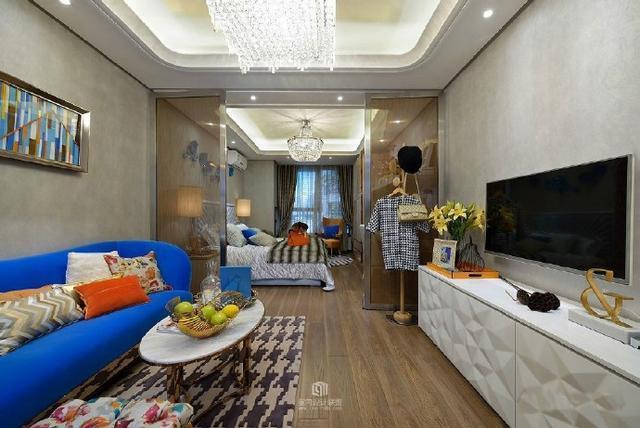简约 公寓 SOHO 单身 白领 收纳 旧房改造 80后 小资 客厅图片来自轻舟装饰家居顾问在单身公寓 一个时尚又实用的小屋的分享