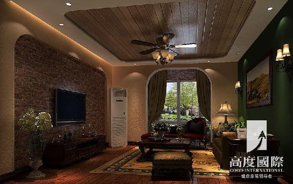 哥谭—托斯卡纳风格—成都高度国际装饰设计---客厅