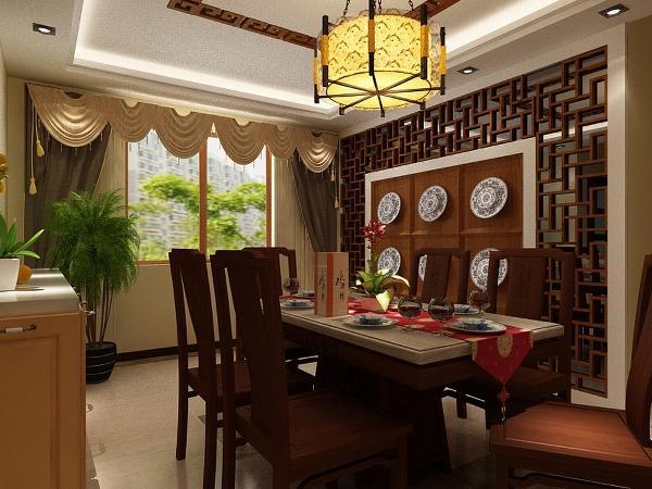 餐厅处餐桌也都是选择木质,和整体的风格相协调,厨房的橱柜也多事木质材料,墙面搭配简洁的大理石墙砖,显得厨房干净整洁。