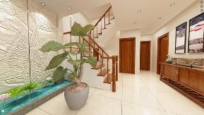 别墅 中式 实创 世茂三号院 楼梯图片来自快乐彩在世茂3号院125+90平叠拼别墅的分享