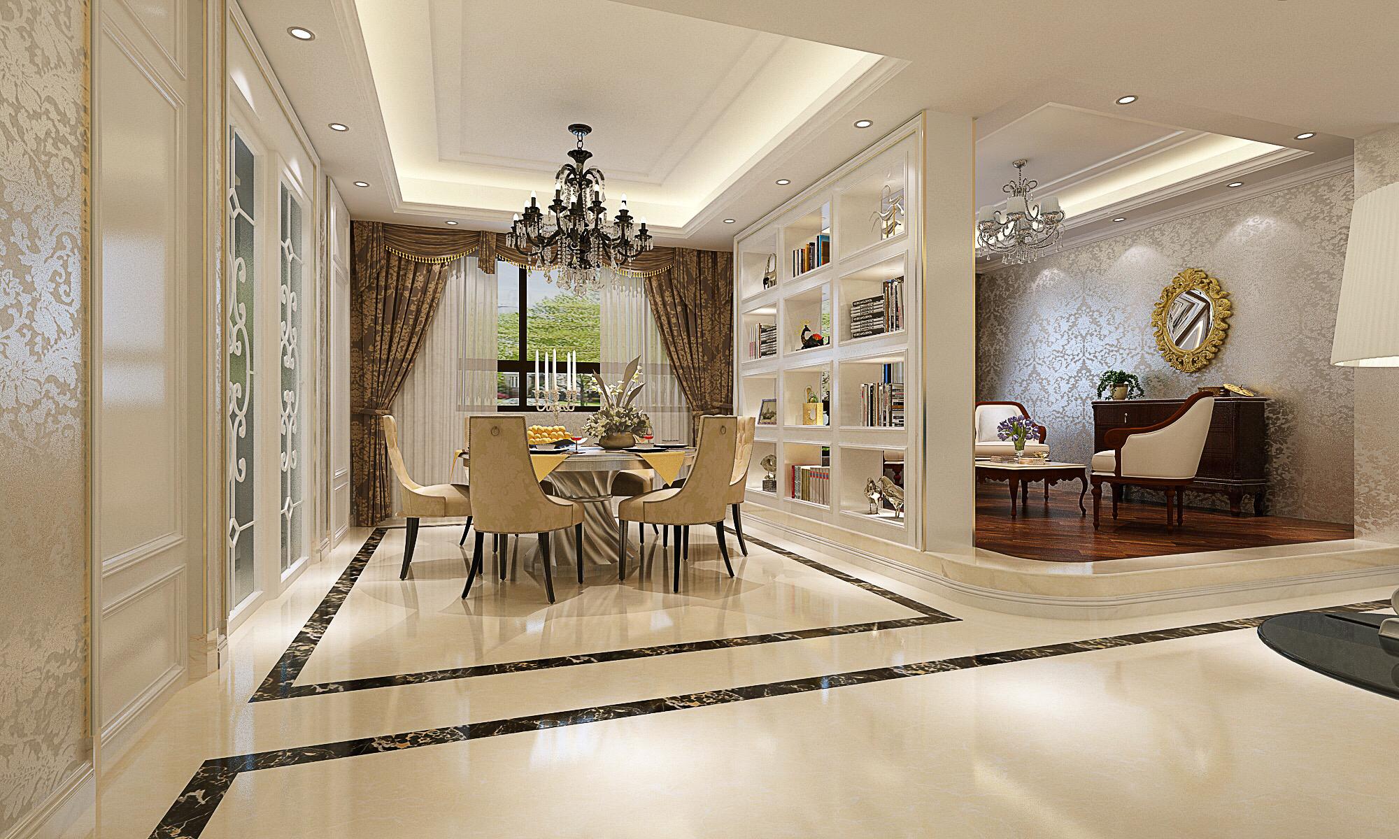 客厅图片来自深圳市尚易装饰在勤诚达22世纪二期 欧式轻奢 四居的分享