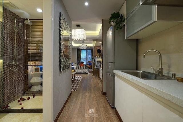 简约 公寓 SOHO 单身 白领 收纳 旧房改造 80后 小资 厨房图片来自轻舟装饰家居顾问在单身公寓 一个时尚又实用的小屋的分享