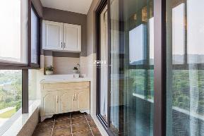 美式 三居 环保 温馨 阳台图片来自中博装饰在德清英溪桃园135方现代美式风的分享