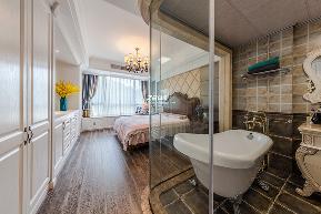 美式 三居 环保 温馨 卧室图片来自中博装饰在德清英溪桃园135方现代美式风的分享