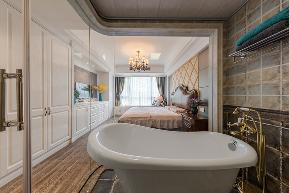 美式 三居 环保 温馨 卫生间图片来自中博装饰在德清英溪桃园135方现代美式风的分享