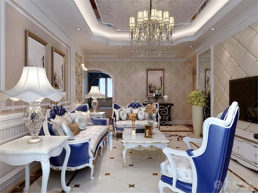 欧式 四居 收纳 小资 客厅图片来自阳光力天装饰在欧式-大都会-160㎡的分享