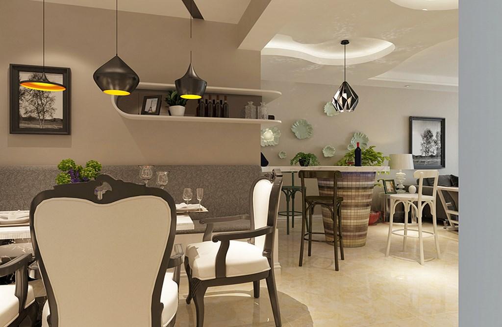 简约 餐厅图片来自阿布的小茅屋15034052435在南屯苑140平米--现代简约的分享