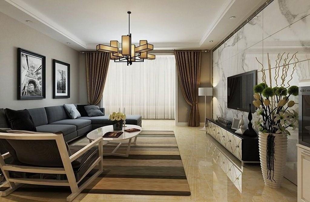 简约 客厅图片来自阿布的小茅屋15034052435在南屯苑140平米--现代简约的分享