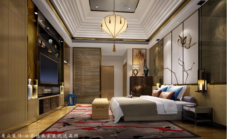 中式 别墅 卧室图片来自杭州居众装饰集团设计院在名城公馆 - 中式 - 400平方的分享