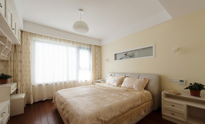 卧室图片来自武汉苹果装饰在王家湾中央生活区案例的分享