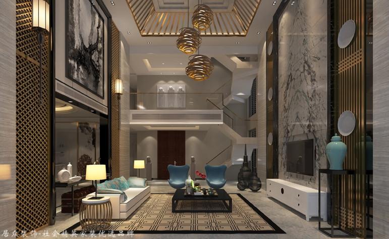 中式 别墅 客厅图片来自杭州居众装饰集团设计院在名城公馆 - 中式 - 400平方的分享