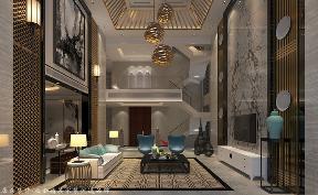 中式 其他 客厅图片来自厦门居众装饰设计工程有限公司在中铁元湾-中式风格-214㎡的分享