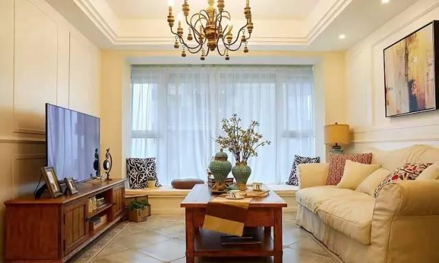 客厅图片来自实创装饰晶晶在90平简美小清新 空间规划很重要的分享