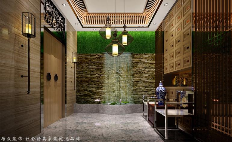 中式 别墅 玄关图片来自杭州居众装饰集团设计院在名城公馆 - 中式 - 400平方的分享