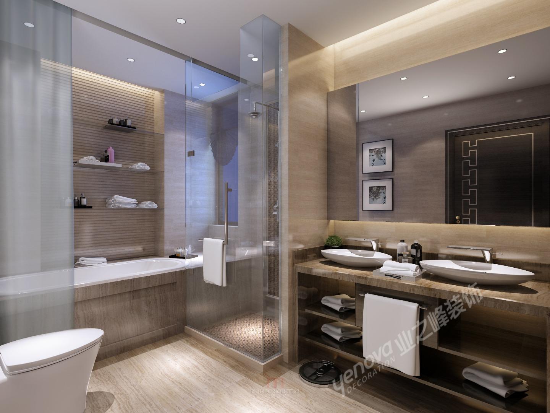 卫生间图片来自青岛业之峰装饰--小娟在鼎世华府 新中式的分享