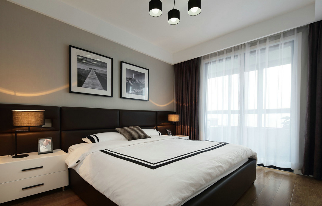 四居 现代简约 小资 白领 卧室图片来自九鼎建筑装饰工程有限公司成都分在鹭岛国际的分享