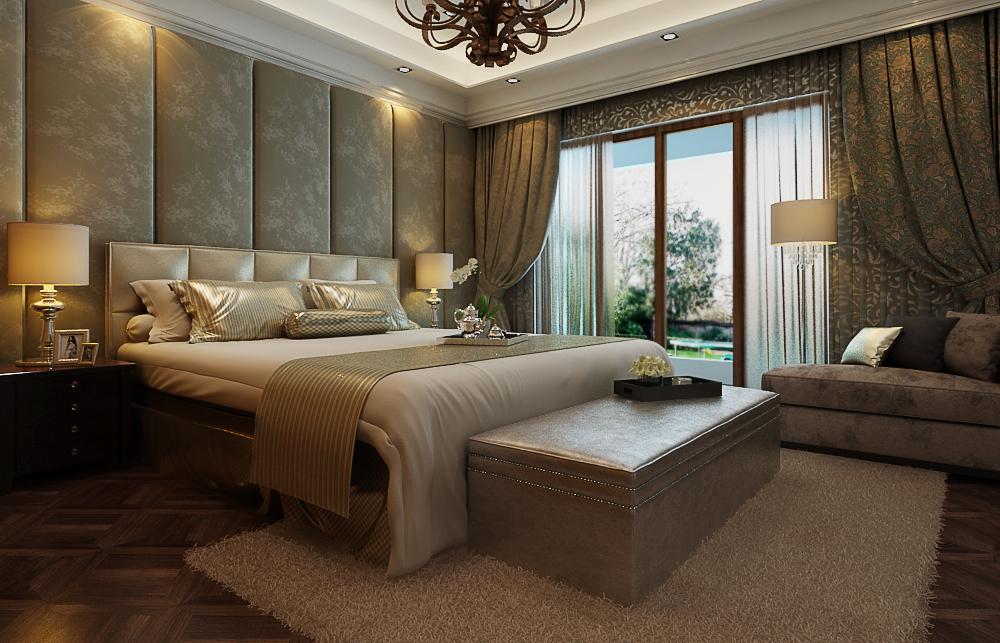 卧室图片来自日升装饰秋红在暖山西安古典风格的分享