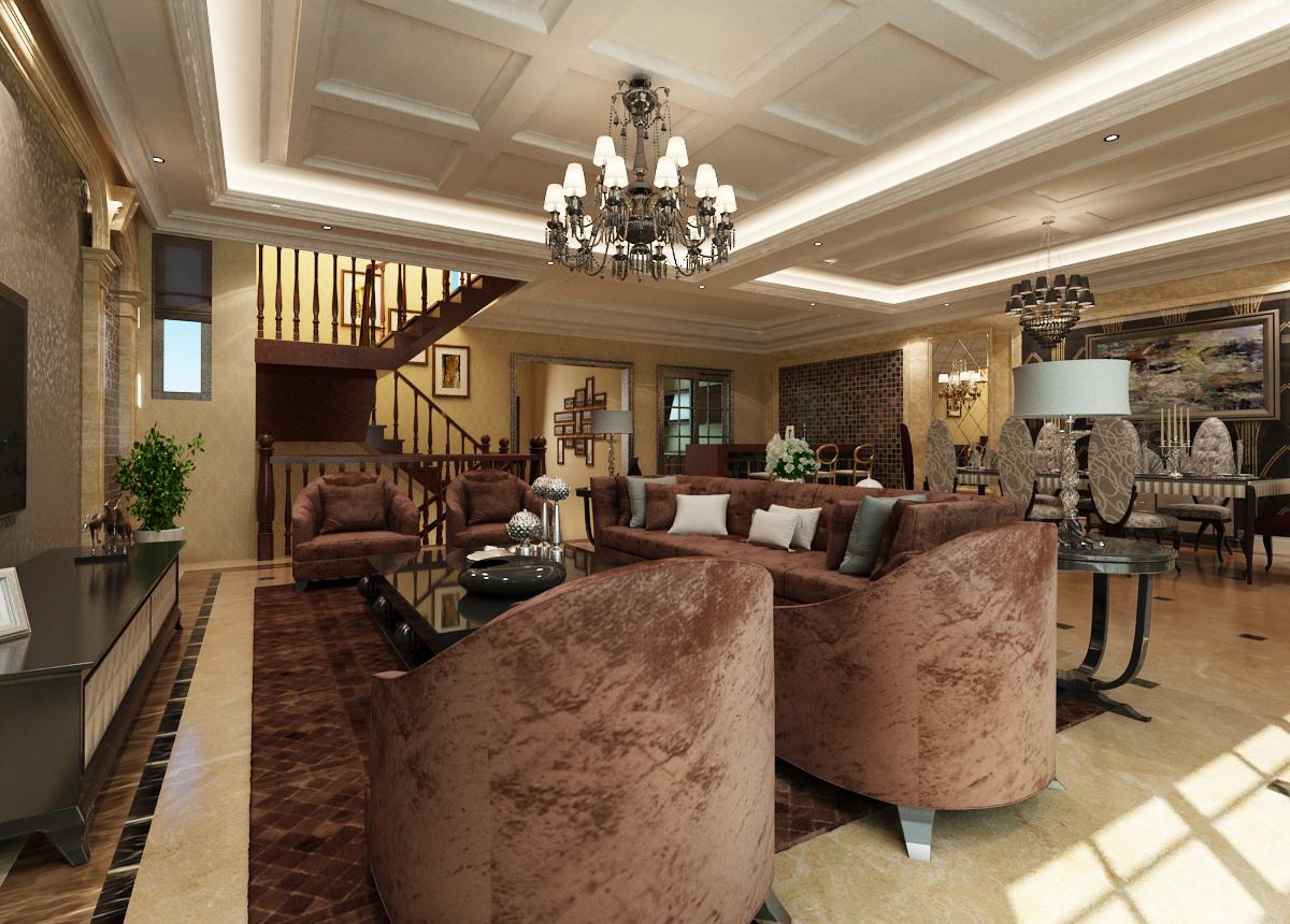 客厅图片来自日升装饰秋红在暖山西安古典风格的分享