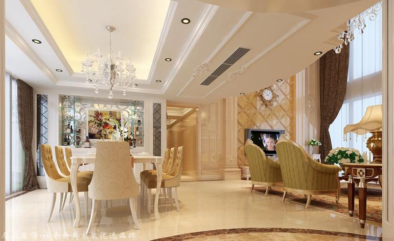 欧式 复式 餐厅图片来自杭州居众装饰集团设计院在东海水景城-欧式-365平的分享