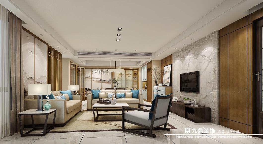 四居 现代简约 小资 白领 客厅图片来自九鼎建筑装饰工程有限公司成都分在鹭岛国际的分享