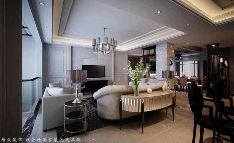 新古典 跃层 客厅图片来自杭州居众装饰集团设计院在金棕榈花园 -新古典-292平方的分享