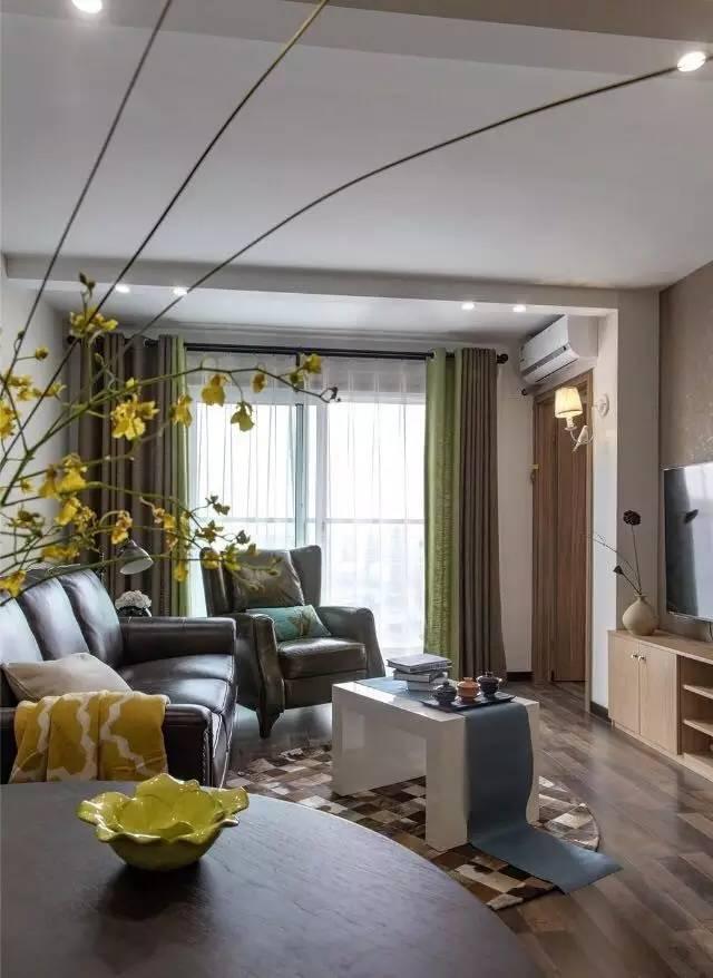 简约 美式 三居 客厅图片来自实创装饰上海公司在任性装90平美式风,软装很费钱的分享