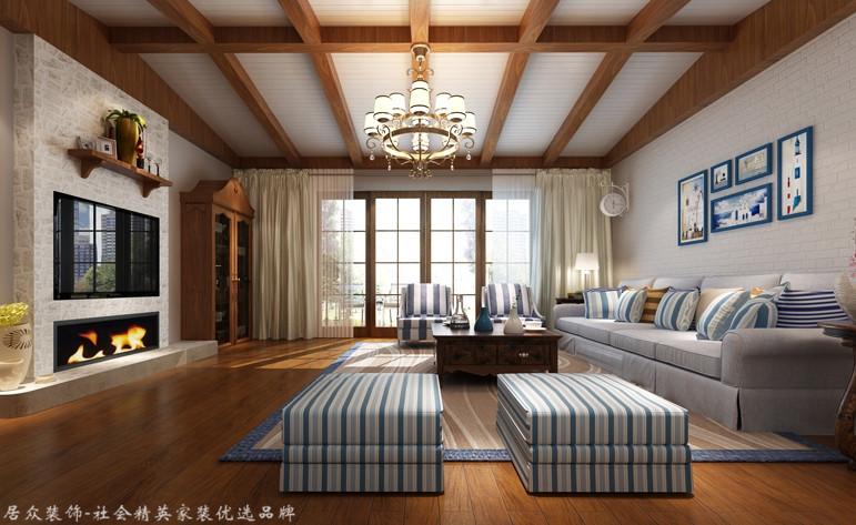 客厅图片来自昆明居众装饰设计工程有限公司在九夏云水-地中海风格-280㎡的分享