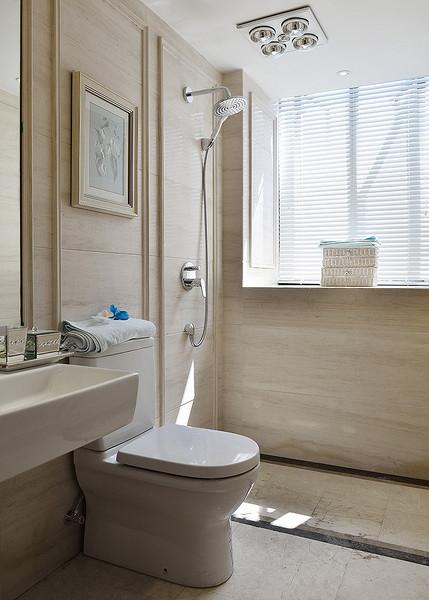 卫生间图片来自家装大管家在明艳典雅 126平欧式田园淡雅3居的分享