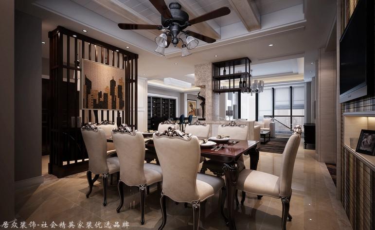 新古典 跃层 餐厅图片来自杭州居众装饰集团设计院在金棕榈花园 -新古典-292平方的分享