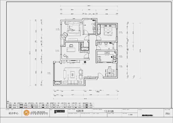 亚泰澜公馆;户型:三室两厅一厨两卫;平米数:100㎡;
