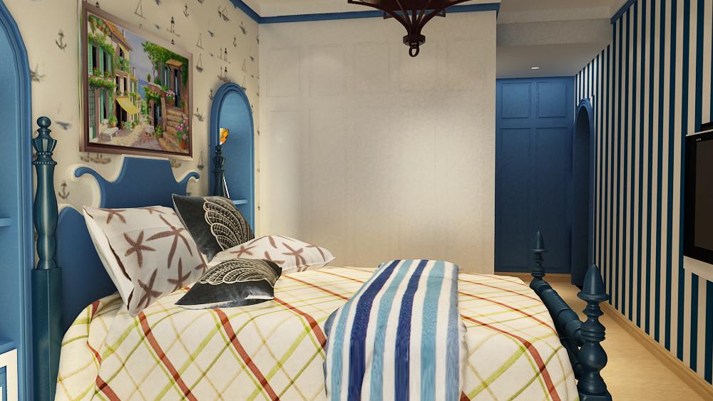 地中海 君子兰装饰 君子兰 诚工嘉园 地中海设计 地中海装修 卧室图片来自流落四方在地中海浪漫情怀-诚工嘉园的分享