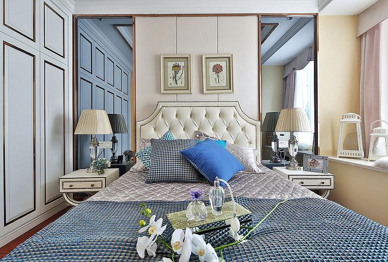 卧室图片来自家装大管家在明艳典雅 126平欧式田园淡雅3居的分享