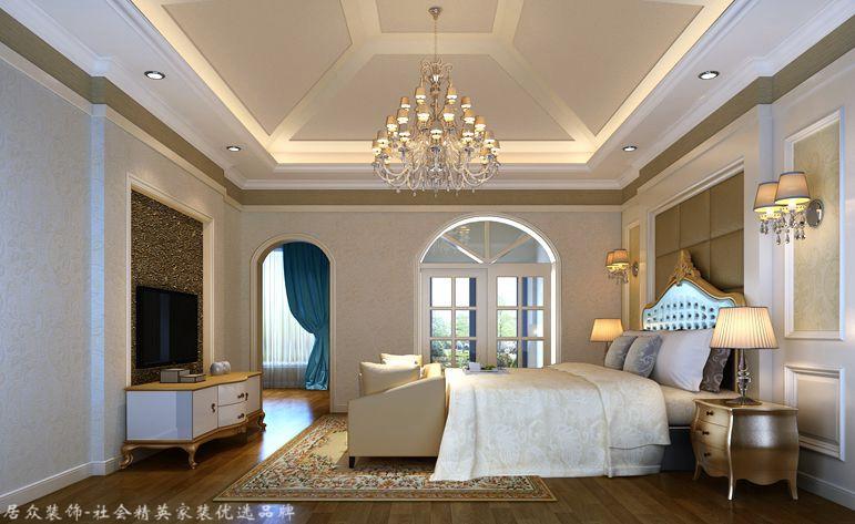 简约欧式 别墅 卧室图片来自杭州居众装饰集团设计院在郡西别墅 -简约欧式-328平方的分享