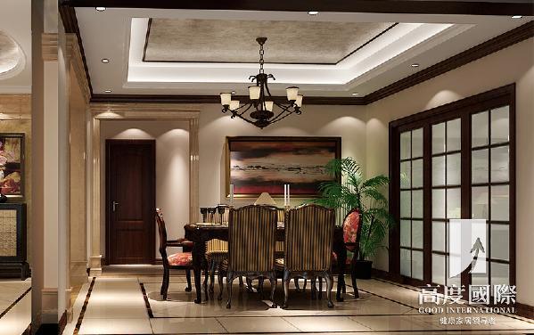 蔚蓝卡地亚-290平方米-中西混搭-餐厅